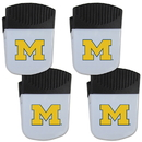 Siskiyou Buckle Michigan Wolverines Chip Clip Magnet with Bottle Opener, 4 pack, 4CPMC36