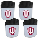 Siskiyou Buckle Indiana Hoosiers Chip Clip Magnet with Bottle Opener, 4 pack, 4CPMC39