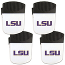 Siskiyou Buckle LSU Tigers Chip Clip Magnet with Bottle Opener, 4 pack, 4CPMC43