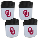 Siskiyou Buckle Oklahoma Sooners Chip Clip Magnet with Bottle Opener, 4 pack, 4CPMC48