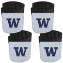Siskiyou Buckle Washington Huskies Chip Clip Magnet with Bottle Opener, 4 pack, 4CPMC49