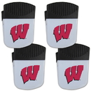 Siskiyou Buckle Wisconsin Badgers Chip Clip Magnet with Bottle Opener, 4 pack, 4CPMC51