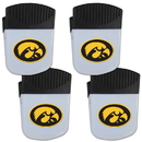 Siskiyou Buckle Iowa Hawkeyes Chip Clip Magnet with Bottle Opener, 4 pack, 4CPMC52