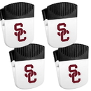 Siskiyou Buckle USC Trojans Chip Clip Magnet with Bottle Opener, 4 pack, 4CPMC53