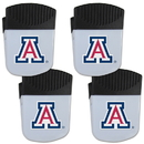 Siskiyou Buckle Arizona Wildcats Chip Clip Magnet with Bottle Opener, 4 pack, 4CPMC54