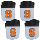 Siskiyou Buckle Syracuse Orange Chip Clip Magnet with Bottle Opener, 4 pack, 4CPMC62