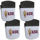 Siskiyou Buckle Arizona St. Sun Devils Chip Clip Magnet with Bottle Opener, 4 pack, 4CPMC68