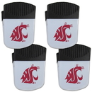 Siskiyou Buckle Washington St. Cougars Chip Clip Magnet with Bottle Opener, 4 pack, 4CPMC71