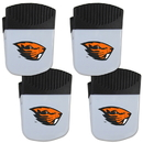 Siskiyou Buckle Oregon St. Beavers Chip Clip Magnet with Bottle Opener, 4 pack, 4CPMC72