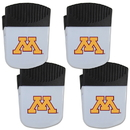 Siskiyou Buckle Minnesota Golden Gophers Chip Clip Magnet with Bottle Opener, 4 pack, 4CPMC77