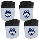 Siskiyou Buckle UCONN Huskies Chip Clip Magnet with Bottle Opener, 4 pack, 4CPMC81