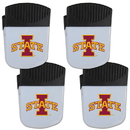 Siskiyou Buckle Iowa St. Cyclones Chip Clip Magnet with Bottle Opener, 4 pack, 4CPMC83