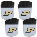 Siskiyou Buckle Purdue Boilermakers Chip Clip Magnet with Bottle Opener, 4 pack, 4CPMC84