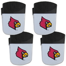 Siskiyou Buckle Louisville Cardinals Chip Clip Magnet with Bottle Opener, 4 pack, 4CPMC88