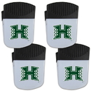 Siskiyou Buckle Hawaii Warriors Chip Clip Magnet with Bottle Opener, 4 pack, 4CPMC99