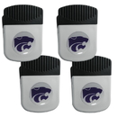 Siskiyou Buckle Kansas St. Wildcats Clip Magnet with Bottle Opener, 4 pack, 4CRMC15