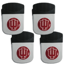 Siskiyou Buckle Indiana Hoosiers Clip Magnet with Bottle Opener, 4 pack, 4CRMC39
