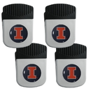 Siskiyou Buckle Illinois Fighting Illini Clip Magnet with Bottle Opener, 4 pack, 4CRMC55