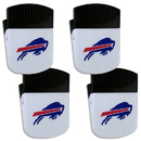 Siskiyou Buckle Buffalo Bills Chip Clip Magnet with Bottle Opener, 4 pack, 4FPMC015