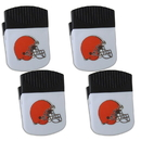 Siskiyou Buckle Cleveland Browns Chip Clip Magnet with Bottle Opener, 4 pack, 4FPMC025