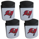 Siskiyou Buckle Tampa Bay Buccaneers Chip Clip Magnet with Bottle Opener, 4 pack, 4FPMC030