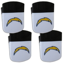 Siskiyou Buckle Los Angeles Chargers Chip Clip Magnet with Bottle Opener, 4 pack, 4FPMC040