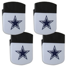 Siskiyou Buckle Dallas Cowboys Chip Clip Magnet with Bottle Opener, 4 pack, 4FPMC055