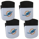 Siskiyou Buckle Miami Dolphins Chip Clip Magnet with Bottle Opener, 4 pack, 4FPMC060