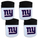 Siskiyou Buckle New York Giants Chip Clip Magnet with Bottle Opener, 4 pack, 4FPMC090