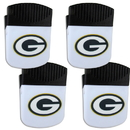 Siskiyou Buckle Green Bay Packers Chip Clip Magnet with Bottle Opener, 4 pack, 4FPMC115