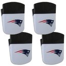Siskiyou Buckle New England Patriots Chip Clip Magnet with Bottle Opener, 4 pack, 4FPMC120