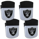 Siskiyou Buckle Oakland Raiders Chip Clip Magnet with Bottle Opener, 4 pack, 4FPMC125