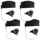 Siskiyou Buckle Los Angeles Rams Chip Clip Magnet with Bottle Opener, 4 pack, 4FPMC130