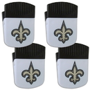 Siskiyou Buckle New Orleans Saints Chip Clip Magnet with Bottle Opener, 4 pack, 4FPMC150
