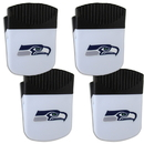 Siskiyou Buckle Seattle Seahawks Chip Clip Magnet with Bottle Opener, 4 pack, 4FPMC155