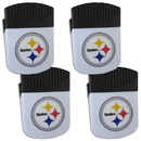 Siskiyou Buckle Pittsburgh Steelers Chip Clip Magnet with Bottle Opener, 4 pack, 4FPMC160