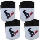 Siskiyou Buckle Houston Texans Chip Clip Magnet with Bottle Opener, 4 pack, 4FPMC190