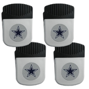Siskiyou Buckle Dallas Cowboys Clip Magnet with Bottle Opener, 4 pack, 4FRMC055