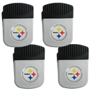 Siskiyou Buckle Pittsburgh Steelers Clip Magnet with Bottle Opener, 4 pack, 4FRMC160