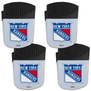 Siskiyou Buckle New York Rangers Chip Clip Magnet with Bottle Opener, 4 pack, 4HPMC105