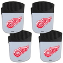 Siskiyou Buckle Detroit Red Wings Chip Clip Magnet with Bottle Opener, 4 pack, 4HPMC110