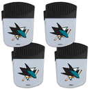 Siskiyou Buckle San Jose Sharks Chip Clip Magnet with Bottle Opener, 4 pack, 4HPMC115