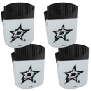 Siskiyou Buckle Dallas Stars Chip Clip Magnet with Bottle Opener, 4 pack, 4HPMC125