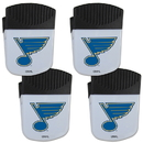 Siskiyou Buckle St. Louis Blues Chip Clip Magnet with Bottle Opener, 4 pack, 4HPMC15