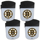 Siskiyou Buckle Boston Bruins Chip Clip Magnet with Bottle Opener, 4 pack, 4HPMC20