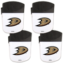 Siskiyou Buckle Anaheim Ducks Chip Clip Magnet with Bottle Opener, 4 pack, 4HPMC55