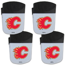 Siskiyou Buckle Calgary Flames Chip Clip Magnet with Bottle Opener, 4 pack, 4HPMC60