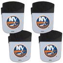 Siskiyou Buckle New York Islanders Chip Clip Magnet with Bottle Opener, 4 pack, 4HPMC70