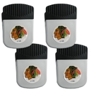 Siskiyou Buckle Chicago Blackhawks Clip Magnet with Bottle Opener, 4 pack, 4HRMC10