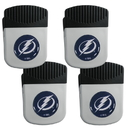 Siskiyou Buckle Tampa Bay Lightning Clip Magnet with Bottle Opener, 4 pack, 4HRMC80